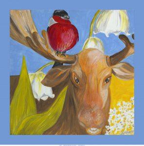 Moose / acrylics