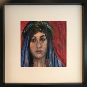 Oil on paper 53 x 53 cm